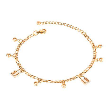 Bracelet de cheville en acier au titane NHOP271057's discount tags
