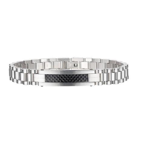 nouveau bracelet simple en acier titane pour homme NHOP271058's discount tags
