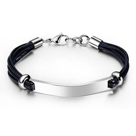 Bracelet en cuir pour homme en acier titane NHOP271073's discount tags