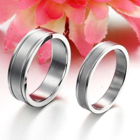 Korean fashion simple pure color titanium steel couple ring wholesale NHOP271088's discount tags
