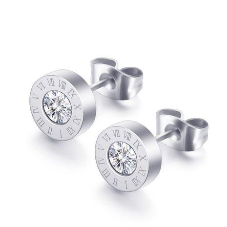 nuevos pendientes de diamantes con letras romanas NHTP271096's discount tags