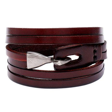 bracelet en cuir de vachette tendance rétro multicouche NHPK271157's discount tags
