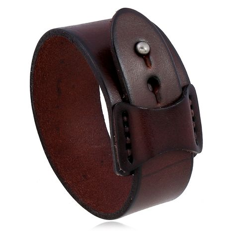 bracelet en cuir homme simple rétro NHPK271159's discount tags
