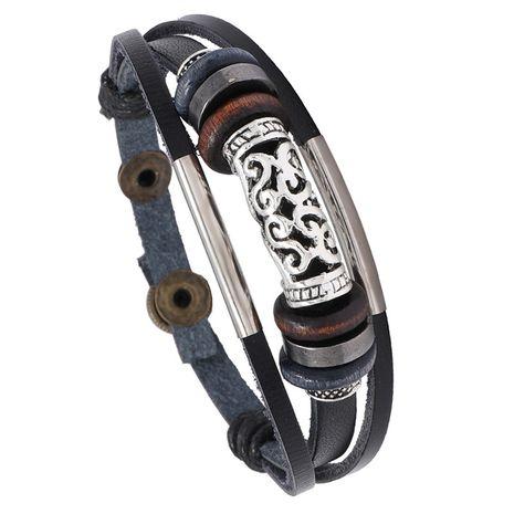 Bracelet en cuir tressé NHPK271161's discount tags