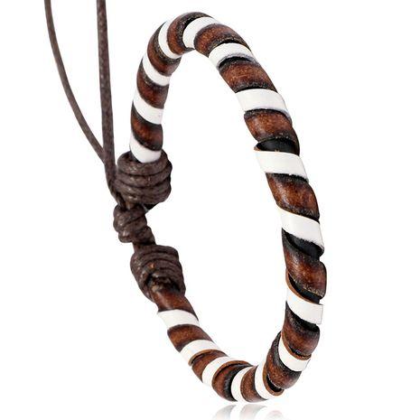 bracelet en cuir de vachette vintage tissé à la main NHPK271167's discount tags