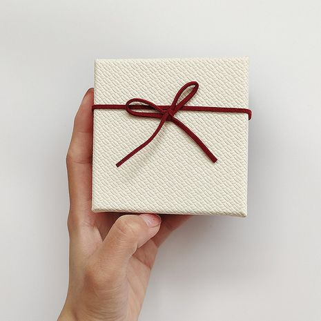 caja roja de joyería pequeña caja cuadrada NHOK271174's discount tags