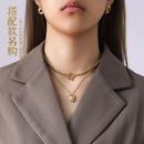 trendy cute little Taurus zodiac titanium steel necklace NHOK271195