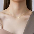 trendy small peach heart titanium steel necklace NHOK271198