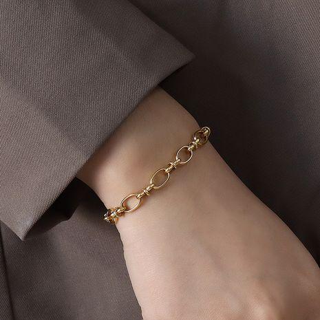 bracelet à chaîne épaisse à la personnalité exagérée à la mode NHOK271200's discount tags
