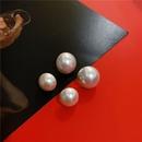 new Korean   sweet style girl heart pearl earrings NHYQ271280