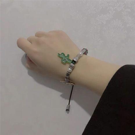 bracelet réglable en verre papillon hip-hop street pearl dice NHYQ271286's discount tags