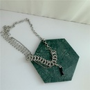 Korean new trendy luxury black gem pendant detachable twist stitching necklace  NHYQ271306