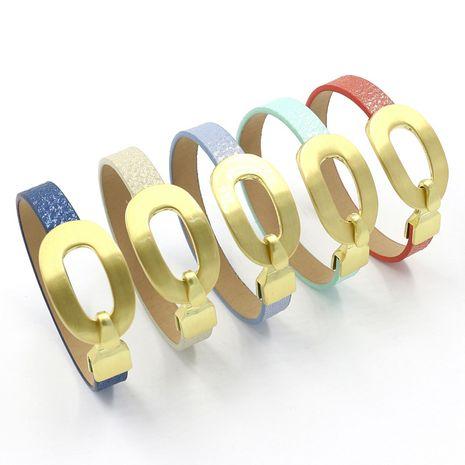 Nouveau bracelet en cuir multicolore PU nacré à la mode NHHM271332's discount tags