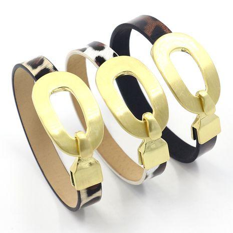 nouveau bracelet en cuir imprimé léopard classique bracelet en cuir PU NHHM271335's discount tags
