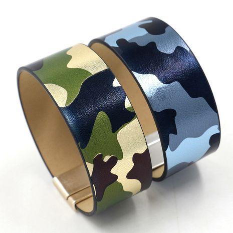Bracelet large en cuir PU vert mode coréenne NHHM271343's discount tags