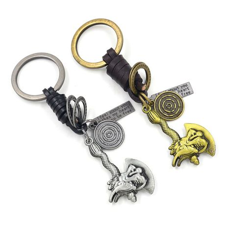 Korean  cowhide  alloy keychain  NHHM271346's discount tags