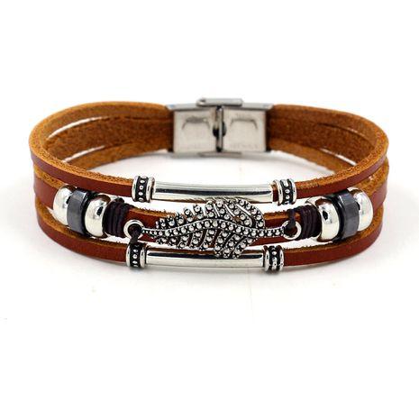 bracelet simple en cuir marron NHHM271350's discount tags