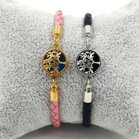 Bracelet en cuir tressé à la mode coréenne NHHM271355's discount tags