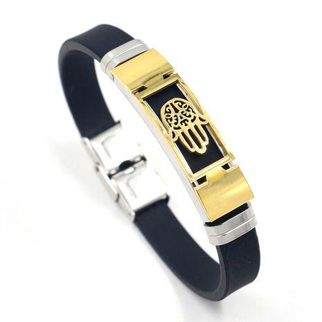 bracelet en silicone avec paume en acier titane NHHM271356's discount tags