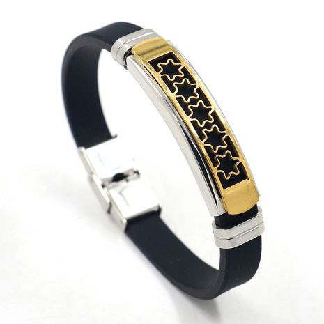 nouveau bracelet silicone or titane acier NHHM271357's discount tags