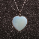 stainless steel chain peach heart pendant necklace  NHYL271365