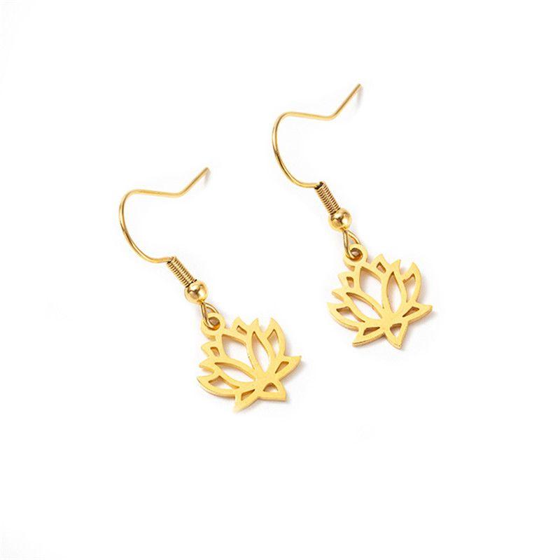 lotus fully polished cut earrings  NHYL271372