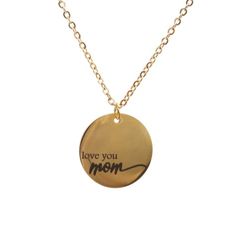 titanium steel MOM pendant necklace  NHYL271396's discount tags