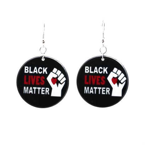 Boucles d'oreilles en acrylique noir Lives Matter I Can't Breathe NHYL271399's discount tags