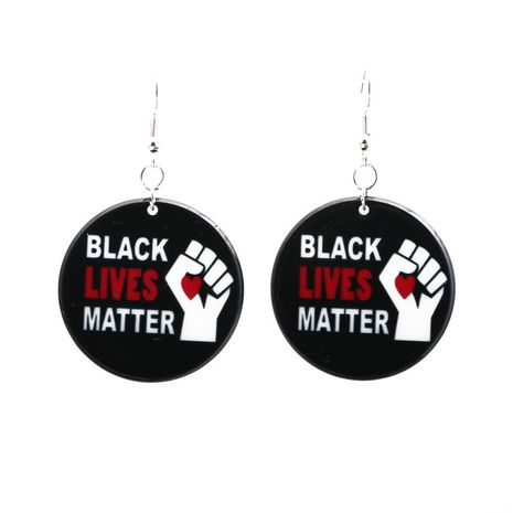 Acrylic Black Lives Matter I Can't Breathe Earrings  NHYL271399's discount tags
