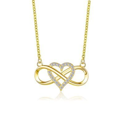 new sweet knotted heart-shaped simple 8-character cross necklace NHMO271422's discount tags