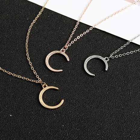 Creative crescent shape simple style necklace wholesale NHBO271446's discount tags