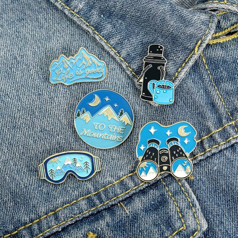 telescope windshield mountain hot water bottle brooch wholesale NHBO271464's discount tags