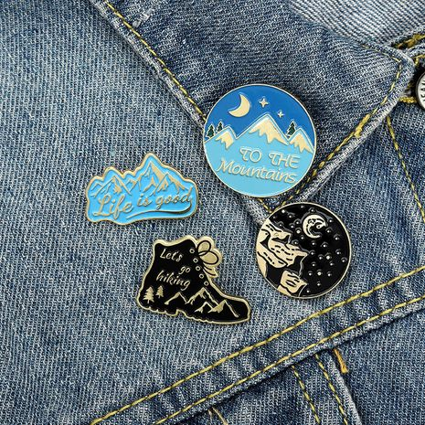 hiking shoes mountain adventure badge brooch wholesale NHBO271471's discount tags