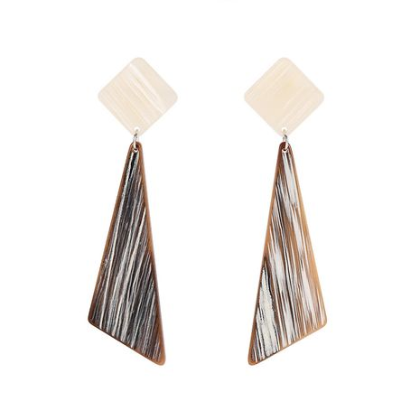 fashion creative geometric stitching triangle acrylic earrings NHXS271474's discount tags