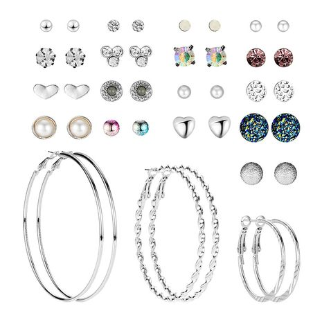 fashion creative popular alloy rhinestone resin earrings set NHXS271477's discount tags