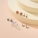 arrow geometric  metal earrings set NHXS271479