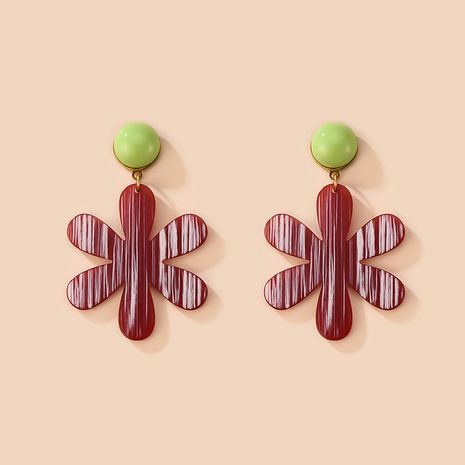 fashion alloy acrylic plate flower earrings  NHXS271481's discount tags