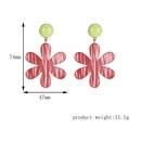 fashion alloy acrylic plate flower earrings  NHXS271481