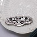 Retro blue diamonds retro simple silver brooch  NHOM271498