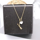 Kurze einfache herzfrmige Pfeil justierte einfache und vielseitige Halskette NHOM271521