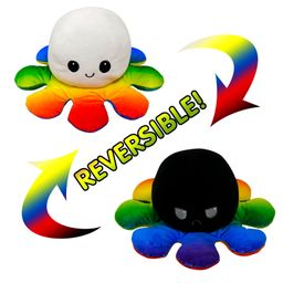Flip Octopus Cute Multicolor Doll Double Face Expression Flip Octopus Doll Peluche Jouet (5-7 jours en stock) NHNO271537