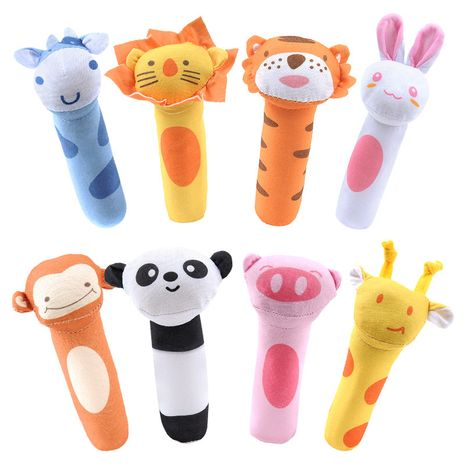 bb stick baby toy plush rattle bb stick animal bb stick rattle baby hand catch plush rattle cartoon NHNO271538's discount tags
