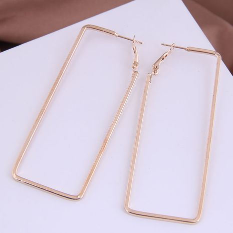 fashion metal simple three-dimensional rectangular exaggerated earrings  NHSC272482's discount tags