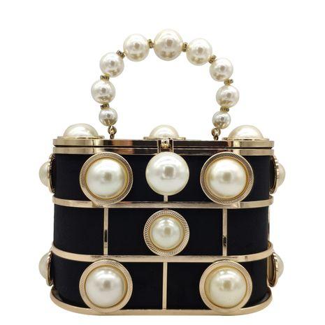 bolso de mano con perlas NHJU271573's discount tags