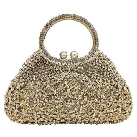 metal dinner bag diamond pearl rhinestone party banquet bag NHJU271574's discount tags
