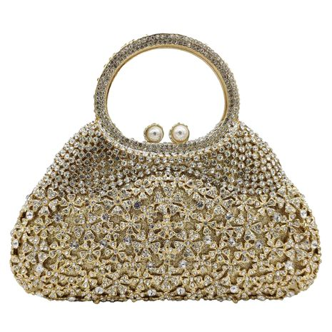 metal dinner bag diamond pearl rhinestone party banquet bag NHJU271574's discount tags