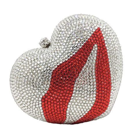pochette diamantée en forme de cœur et autocollant NHJU271578's discount tags