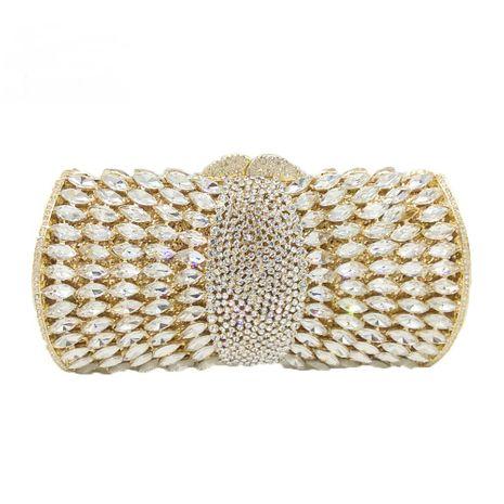 diamond-studded women's bag pillow-shaped pure color gemstone bag  NHJU271580's discount tags