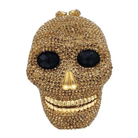 sac de dîner crâne diamant sac de banquet tête de fantôme strass sac de soirée NHJU271582's discount tags