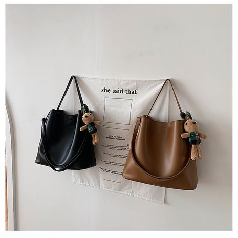 All-match autumn and winter new fashion single shoulder large capacity bucket bag NHLH271585's discount tags